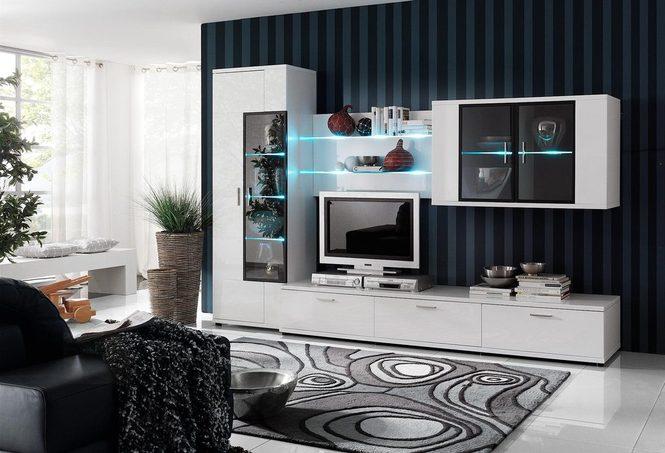 белая лаковая модульная мебель для гостиной Corano польша