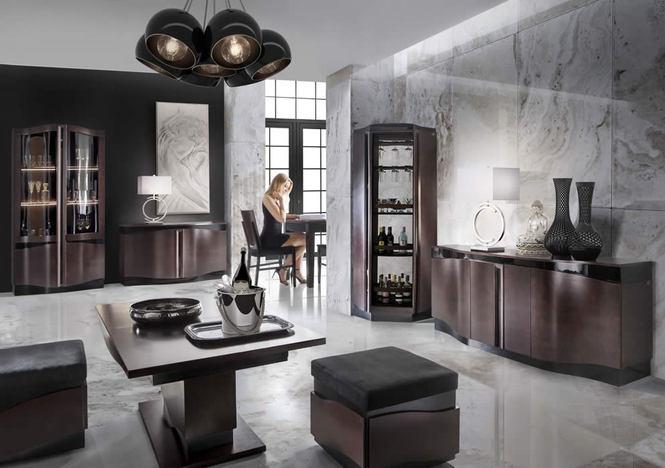 модульная мебель для гостиной столовой и кабинета Diuna Mebin