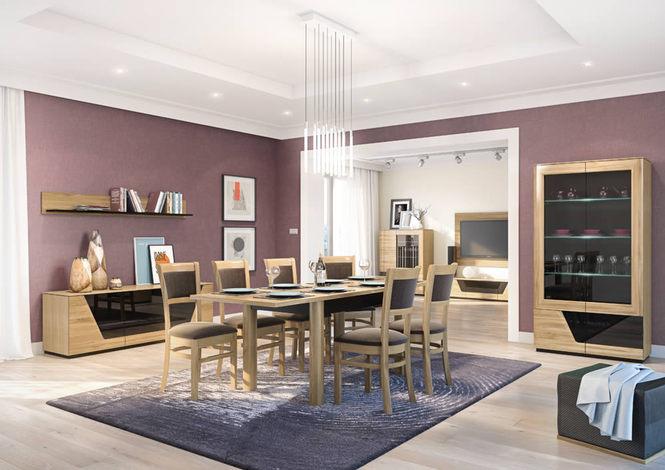 модульная мебель для гостиной и столовой из массива производство